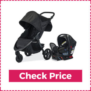 Britax B-Free Travel system with B-safe ultra infant Car Seat